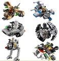 2016 Venta Caliente 1 unids LEPIN Star Wars Clone Wars Bloques Micro Fighters Nave Espacial Starwars Figuras Clásicas Compatible Lepin Luchador
