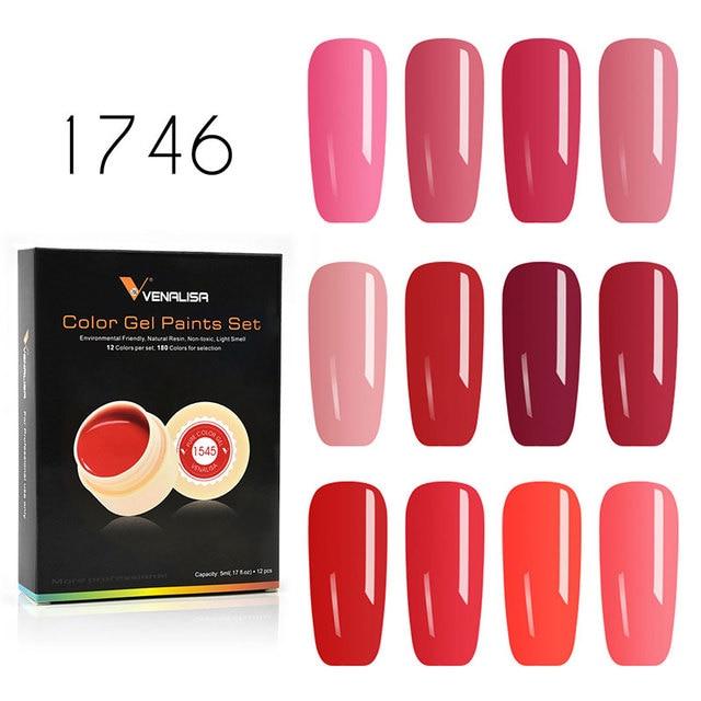 Venalisa ג 'ל לכה 5 ml 180 טהור צבעים משרים כבוי UV LED ג' ל DIY צרפתית CANNI ג 'ל פולני עיצוב ציפורניים ציור צבע ג 'ל לכה