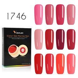 Venalisa Gel Lack 5 ml 180 Reine Farben Tränken Weg Vom UV LED Gel DIY Französisch CANNI Gel Polnischen Design Nagel malerei Farbe Gel Lack