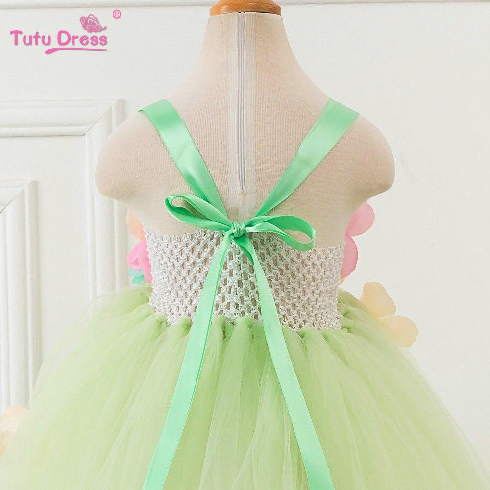 Yaşıl Çiçək Tutu Don Baby Girl Yay Princess Fairy Don Qızlar - Uşaq geyimləri - Fotoqrafiya 5