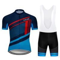 new pro team Ropa Ciclismo Clothing Sets Hombre Men Short Sleeve Cycling Jersey Kits Men Bib Short Cycling Kits 100% polyester