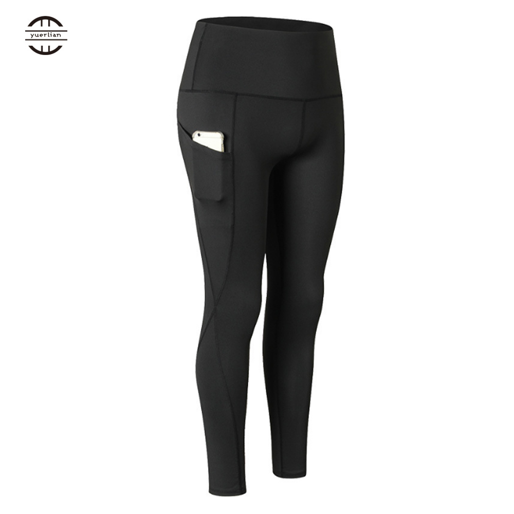 Yuerlian Women High Waist sport leggings Seamless Gym Yoga Pants Side Phone Pocket Push Up Girl Female Compression Bottoms in Yoga Pants from Sports Entertainment