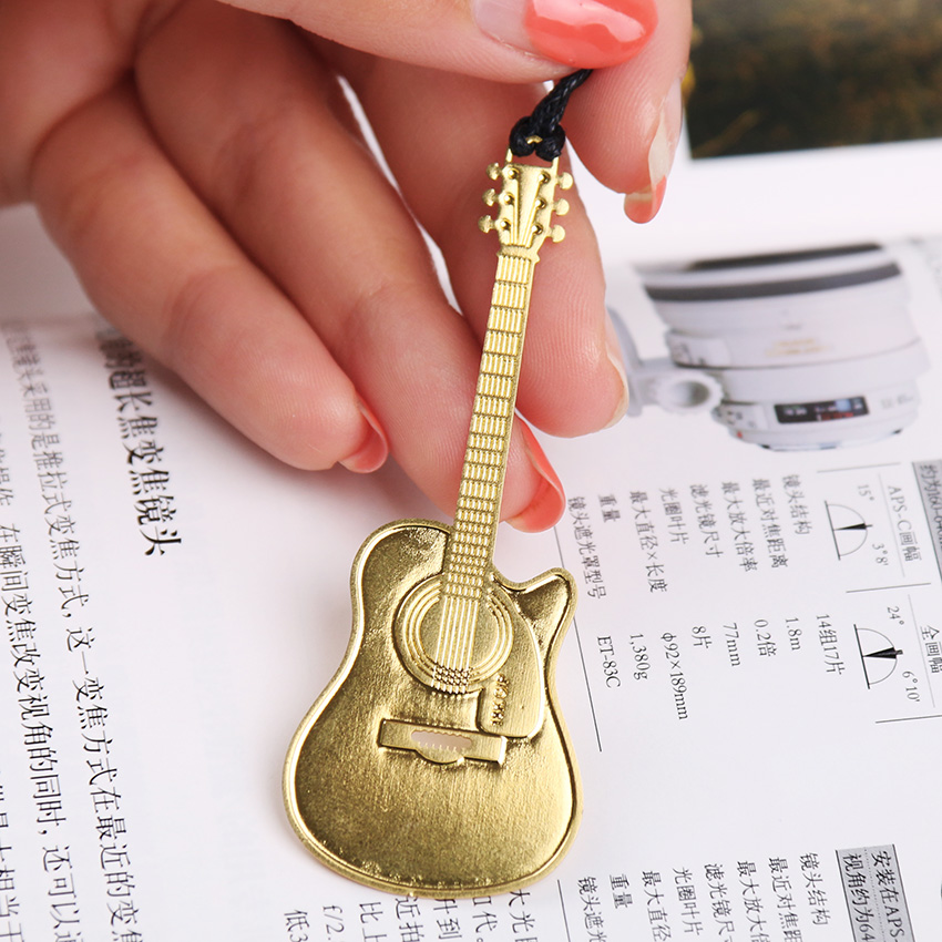 1PC Metal Bookmark Vintage Musical Instruments Bookmark Paper Clip For Book Mark Notes 6 Types Available
