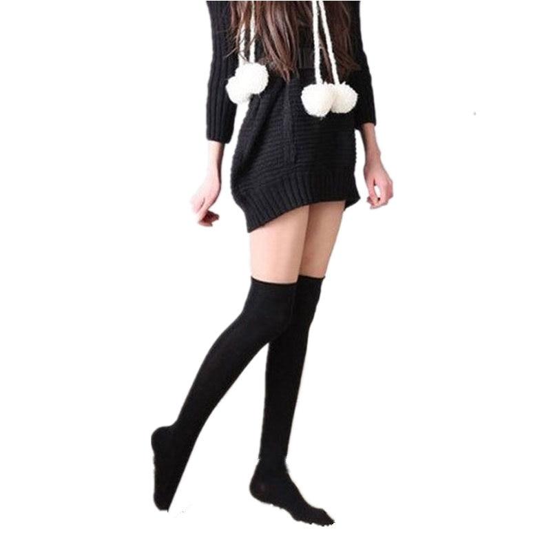 Fashion Sexy Knee High Socks 2020 Cotton Thigh High Women's Stockings Knee Socks Women Black White Grey Boots Female Long Socks