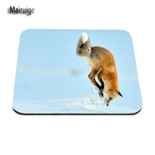 Jumping Animal fox Aming Personalized Durable Mouse Pad Mat Comfort Me Pads Size For 18*22cm and 25*29cm And 25*20cm As A Gift