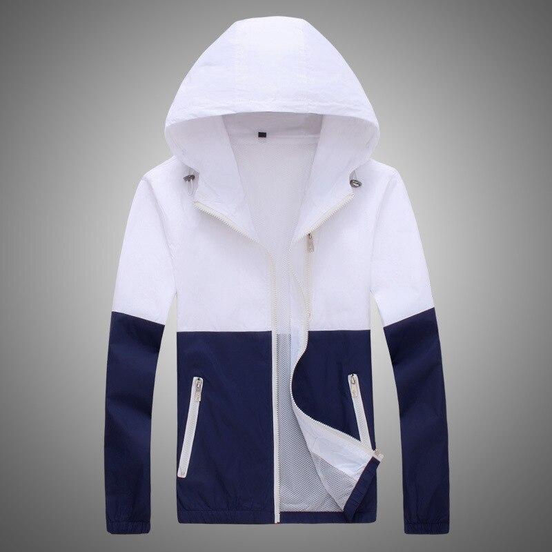 mujer Parkas Windbreaker 2018 Autumn Womens   Jacket   Coat Hooded Female   Jacket   Fashion Men Ladies Thin   Basic     Jackets   For XS-3XL