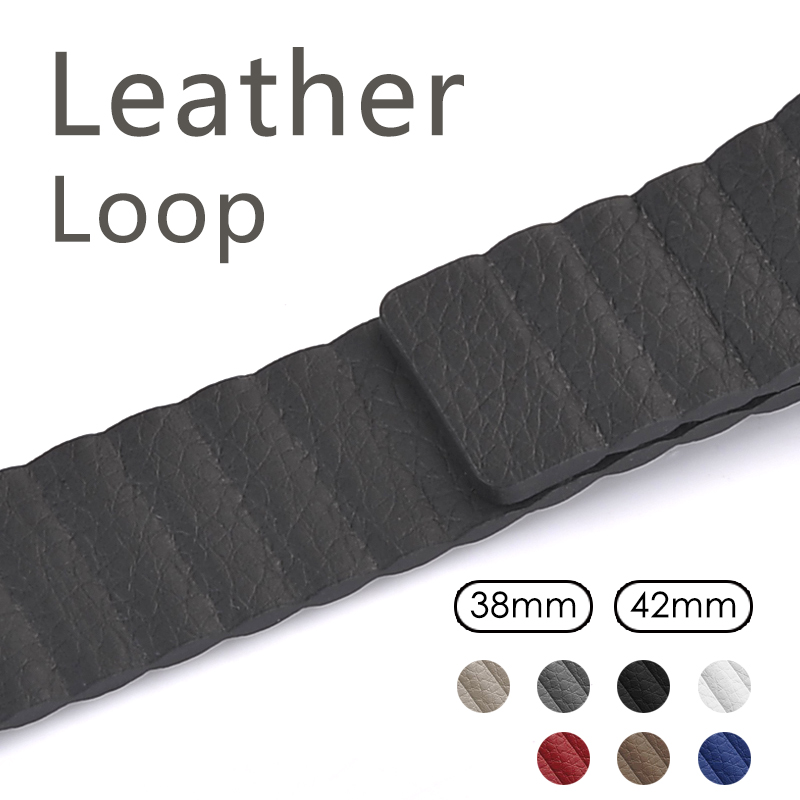 leather loop band for apple watch band 42 mm/38 strap bracelet & Adjustable Magnetic Closure Loop leather strap apple watch apple watch magnetic charging cable 2m mjvx2zm a