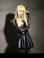 Death Note Misa Amane Black Dress Accessories Anime Cosplay Costume