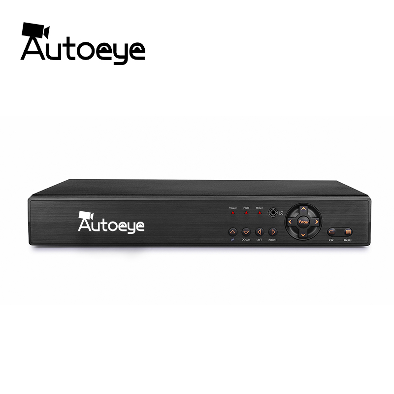 Autoeye 4CH 1080P CCTV DVR NVR HVR 5 IN 1 Support AHD CVI TVI CVBS IP Camera Onvif 5MP NVR P2P View Support RS485 Coxial Control 4 in 1 ir high speed dome camera ahd tvi cvi cvbs 1080p output ir night vision 150m ptz dome camera with wiper