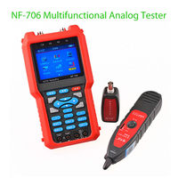 SEESII NF 706 Multifunctional Analog CVBS RJ45 BNC Metal Optical Power Meter CCTV Cable Tester For Coaxial Line Breakpoint Test