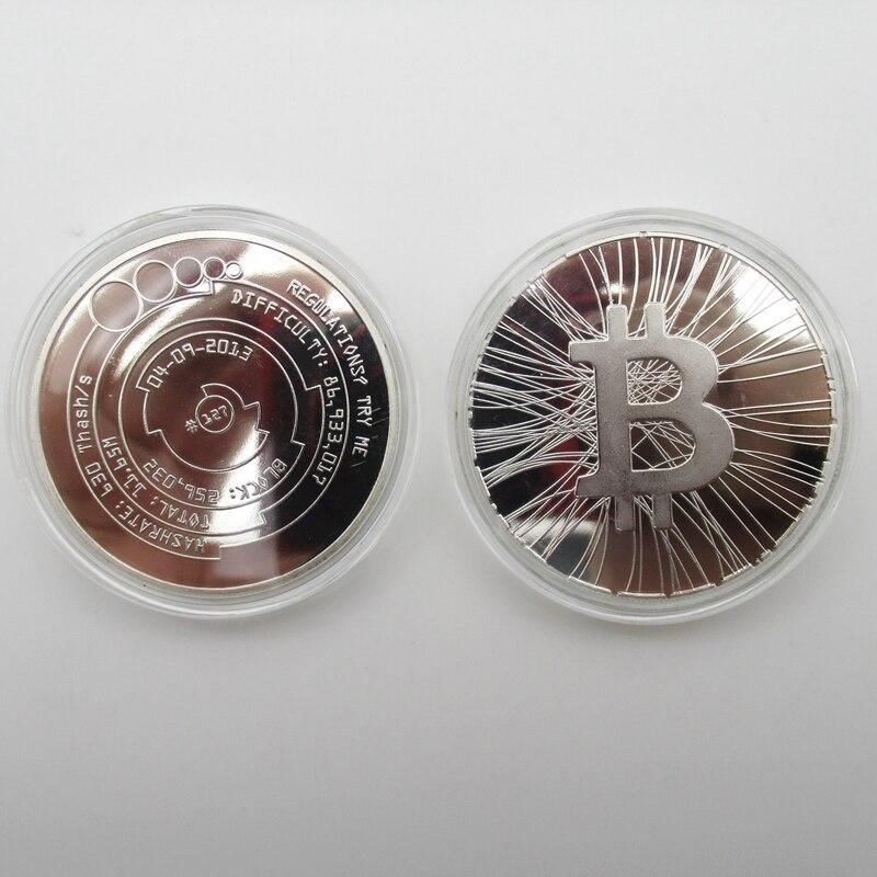 Bitcoin Okcoin TRY ME BTC μετάλλιο ασημένιο - Διακόσμηση σπιτιού - Φωτογραφία 5