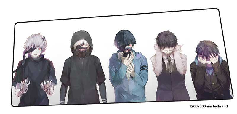 Tokyo Ghoul mousepad 1200x500mm Adorable gaming mouse pad gamer mat cool new game computer desk padmouse keyboard play mats все цены