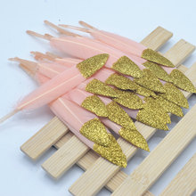 20 pcs beautiful colorful duck feathers & DIY sewing decorative handicrafts accessories