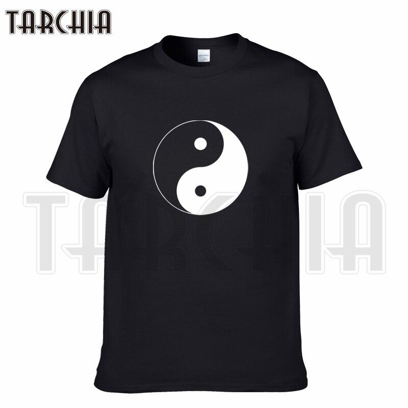 TARCHIA 2019 new summer brand t-shirt cotton tops tees Taichi Bagua men short sleeve boy casual homme tshirt t plus fashion