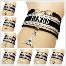 Wholesale factory Infinity Love Bracelet NHL team LOS ANGELES KINGS sport fans HOCKEY friendship bracelets
