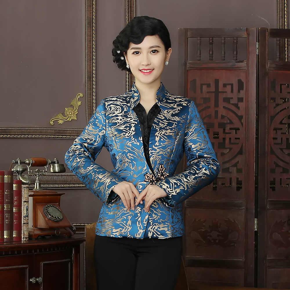 הגעה חדשה באיכות גבוהה סיני מסורת סגנון מעילי אלגנטי Slim מעיל מעיל טאנג חליפת חולצות בתוספת גודל L XL XXL XXXL 4XL R03