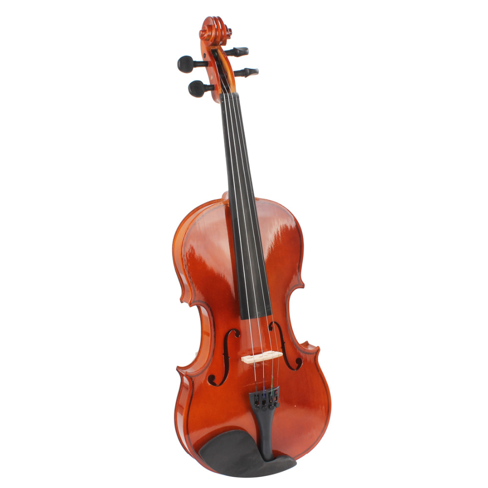 4/4 Full Size Acoustic Violin Fiddle Natural Basswood Body Violino with Case & Bow & Rosin Musical Instruments for Beginner