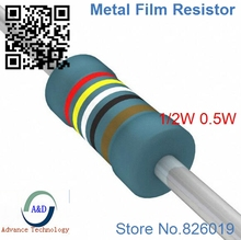 Только оригинальные 51 Ом 1/2 Вт 1% радиальная DIP Металлические пленочные осевая резистор 51ohm 0.5 Вт 1% резисторы