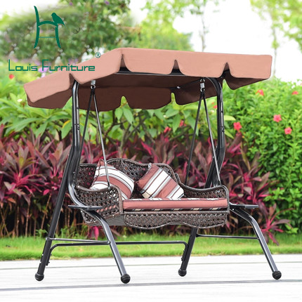 Us 270 0 Outdoor Swing Double Hanging Chair Cany Chair Hammocks Indoor Hanging Basket The Courtyard Balcony Swing Rocking Chair In Chaise Lounge