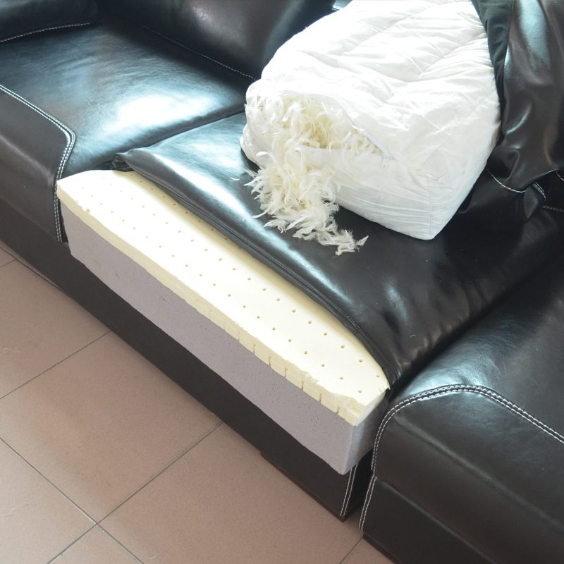 1 Seat 2 Seat Lounge L Shaped Wider Cow Leather Oil Wax