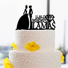 Cake Topper for Bride And Groom Wedding With Date and Name Custom personalized Cake Toppers design