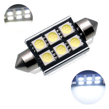 2pcs C5W W5W BA9S Car LED Light 31mm 36mm 39mm 41mm C10W Car Interior Light CANBUS Error Free Festoon Dome Reading Lights Lamp(China)