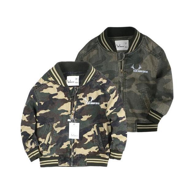 Nuevo 5 Del Bebé Del Color Puro algodón capa uniforme de béisbol BoysAir Force One chaqueta de camuflaje al por mayor