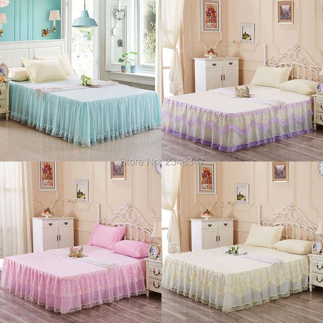 Princess Style Lace Chiffon Multi Layer Ruffled Tulle Bedding Bed