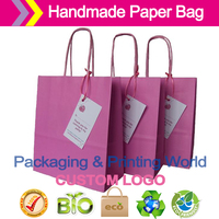 ECO FRIENDLY PAPER BAGS LUXURY PINK PAPER PARTY BAGS WITH HANDLES AND THANK YOU LABEL
