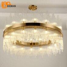 Новое поступление современная люстра светодио дный огни AC110V 220 В золото столовая гостиная hanglamp