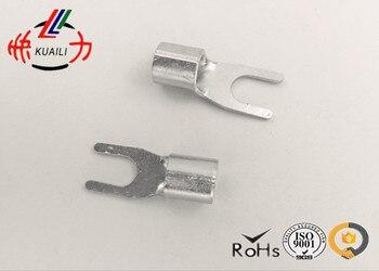 1000PCS Non-insulated Spade Terminal SNBS8-6