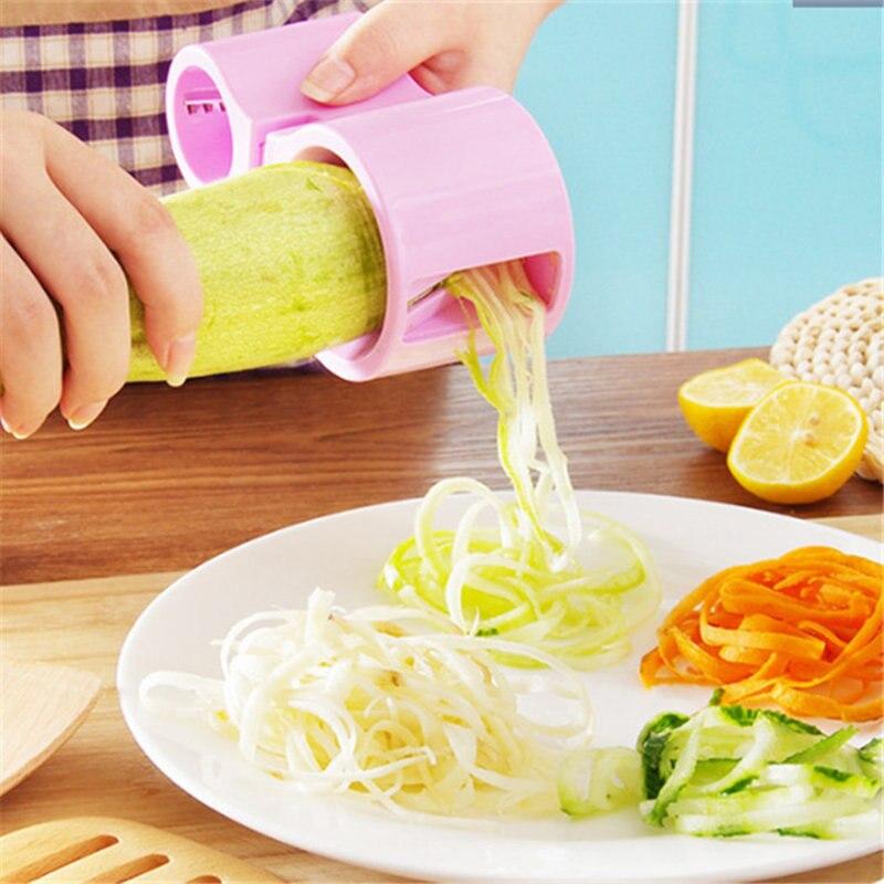 Multifunción Cocina Spiralizer Cortador De Verduras Espiral máquina de Cortar el