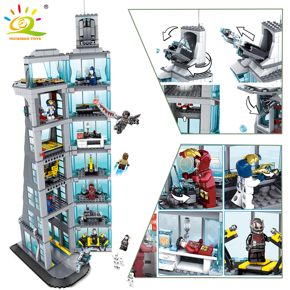 1209 pièces Avengers Edifice lutte blocs de construction modèle Compatible émerveillé avec amour Iron Man Spider-Man super-héros jouets enfants