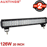 Auxtings 20inch 126w Dual Rows IP67 Waterproof CE RoHS Straight LED Work Light Bar Offroad