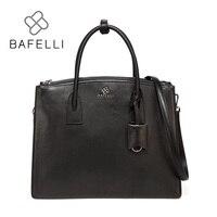 BAFELLI 100% натуральная кожа сумки на ремне для женщин Роскошные сумки женские сумки модельер замок большой мягкие сумки Bolsas