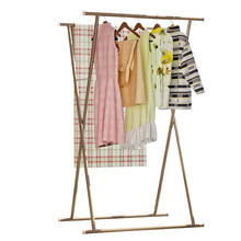 Modern Drying Racks Floor Standing Folding Rust-proof Indoor X-shape Drying Rack Balcony Multi-function Drying Quilt Rack(China)