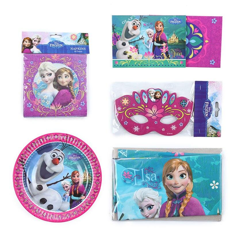 98pcs/lot Disney Frozen Anna Elsa Princess Birthday Party Decorations Kids Pretty Napkin For Baby Shower Party Supplies