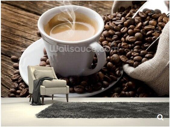 Custom modern wallpaper.hot coffee,3D photo mural for living room restaurant cafe backdrop waterproof wallpaper. custom baby wallpaper snow white and the seven dwarfs bedroom for the children s room mural backdrop stereoscopic 3d