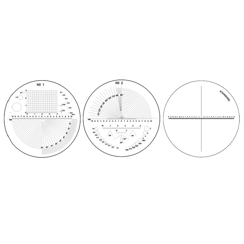 Diameter 35 Mm Angle Reticle / Cross Reticle Micrometer For Magnifying Glass Microscope Scale Reticle Measuring
