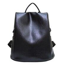 2016 новый дизайн PU женщина флип кожаная сумка 11-14.1 дюймов школы таблетки пакет досуг моды рюкзак черный саквояж