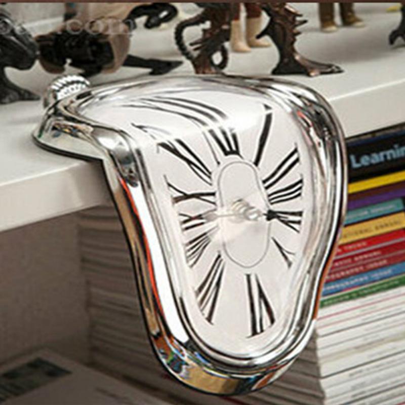 רומן סוריאליסטי התכה מעוותת קיר שעון הסוריאליסטי סלבדור דאלי סגנון קיר שעון מדהים עיצוב הבית מתנה