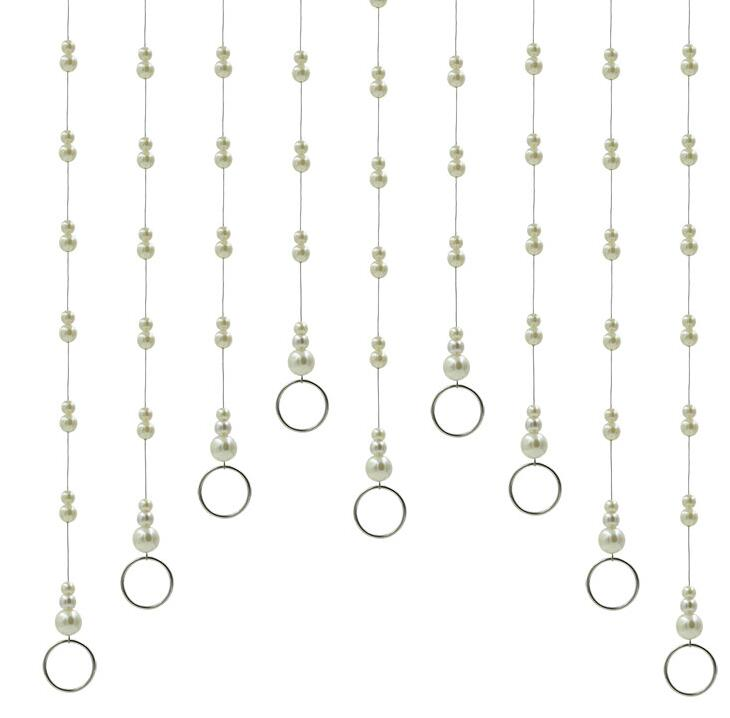 Oversized pearl crystal ring hanger clothing store, Bead chain hanging display Robe Hooks Multi-Purpose Racks 3pc/lot A410 17