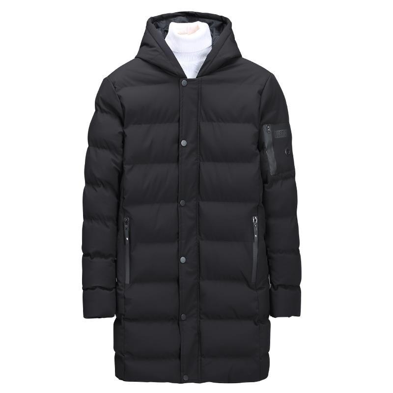 ff8cf1ffa830 Fourrure Long Manteaux Veste Col 2018 Plus vêtements Noir Parka D hiver Nouvelle  Homme Hommes Taille Vestes ...