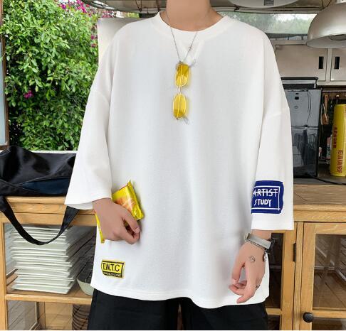 New Fashion Brand Tshirt Small man Korean version loose High Quality Trends Street Wear Tops Short sleeve Tee Men Clothes