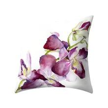 Roślina drukowana poszewka poliestrowa poszewka na poduszkę Home Decor Square 45*45cm na łóżko rzuć wygodne pokrowce Hot