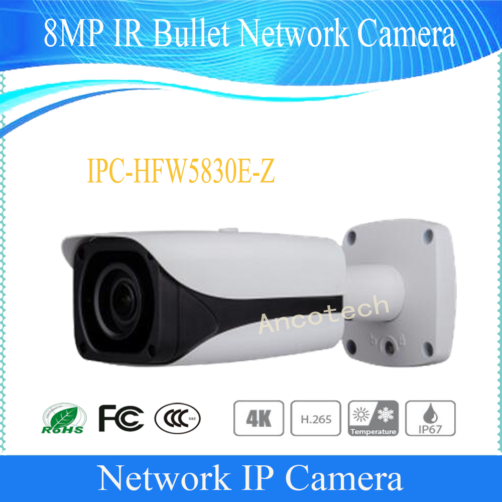 Free Shipping DAHUA Security IP Camera CCTV 8MP FULL HD IR Bullet Network Camera with POE IP67 IK10 Without Logo IPC-HFW5830E-Z free shipping dahua security ip camera cctv 8mp full hd ir bullet network camera with poe ip67 ik10 without logo ipc hfw5830e z