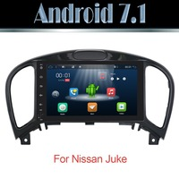 Pure Android 7.1 For Nissan Juke 2012 2016 gps 4g wifi with Capacitive screen radio bluetooth SWC MAP