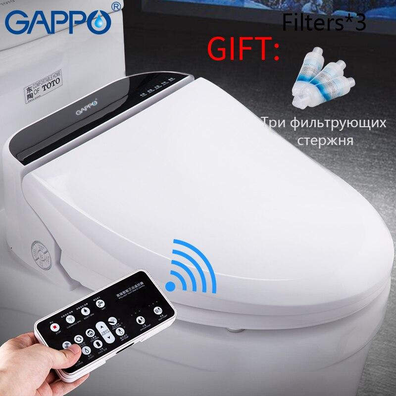 GAPPO inodoro inteligente asientos de baño caliente cubierta de asiento Washlet caliente inteligente bidé inodoro wc de baño