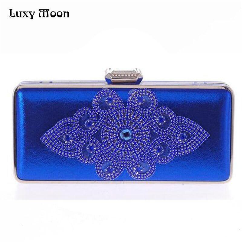 Hot 2017 Silver Evening Bags Special Diamond Gold Clutch Bag Blue Black  Party Purse Handbags Luxury Women Wedding Bags w636 289f5f8b3767