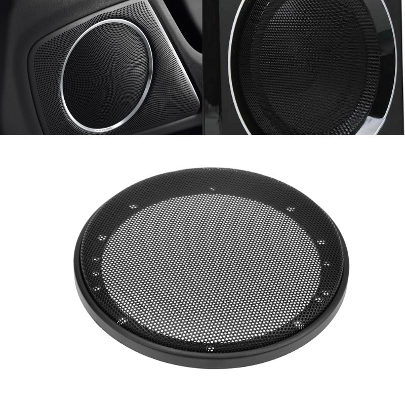 VODOOL 2pcs Car Speakers Car Audio System Refit Trim Sticker Covers for Universal Cars 6'' 16cm Diameter Mesh Cover Car Styling